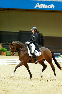 In the Alltech Arena at the US Dressage Finals (Susan J Stickle Photo)