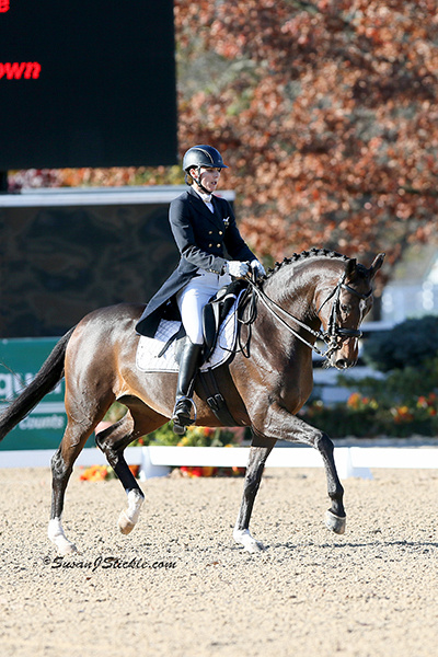 Outside at the US Dressage Finals (Susan J Stickle Photo)