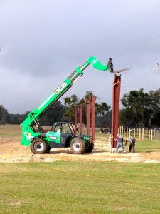 Erection of the building begins!