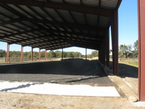 The sand area will be covered in flagstone for a viewing platform